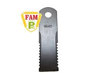 Нож бильный подвижный (ЗУБЧАСТЫЙ) Balmet 173х50х3 д18, 060017 Claas, 600172 Claas, фото 1