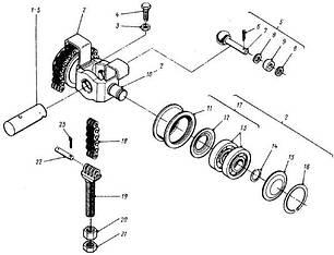82 Механізм підйому 4014-4602 львівського навантажувача