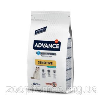 Корм ADVANCE (Эдванс) Cat Sterilized Salmon Sensitive для стерилизованных котов с чувствительным пищеварением на развес 3 кг