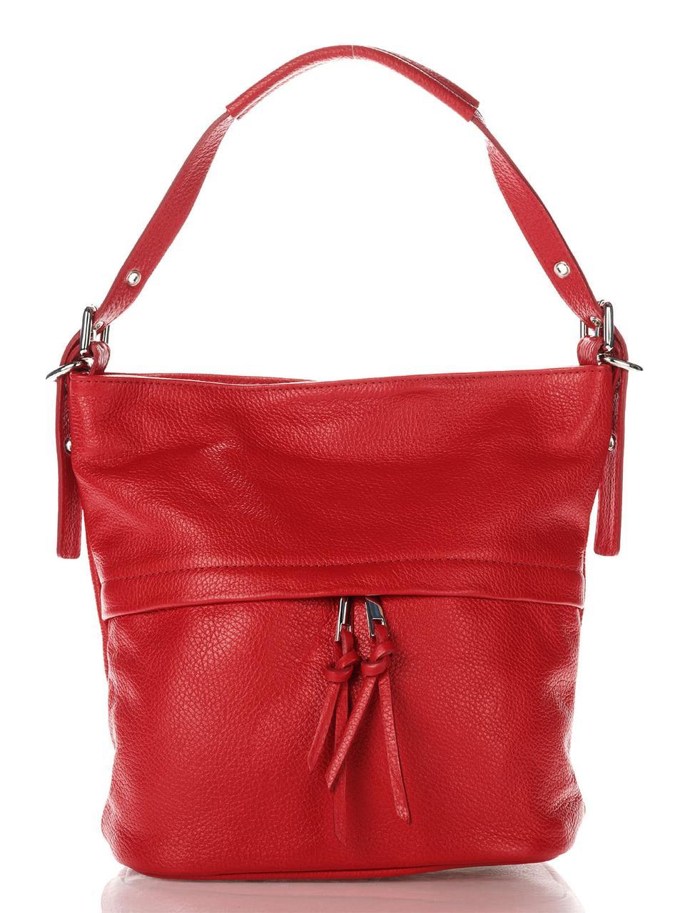 Женская кожаная сумка MAYA Diva's Bag цвет красный