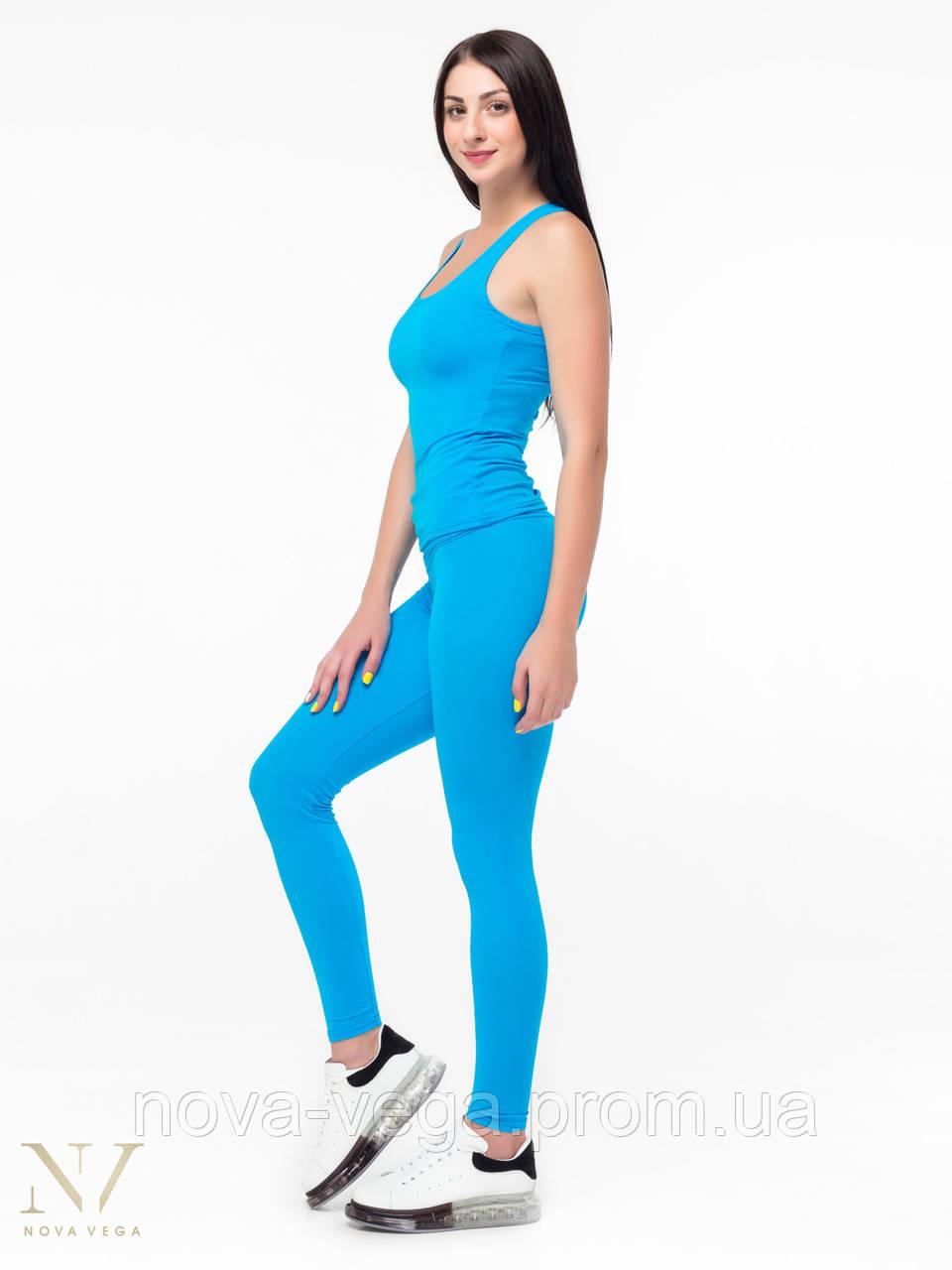 Спортивные Женские Лосины Nova Vega Classic Blue Высокий Пояс