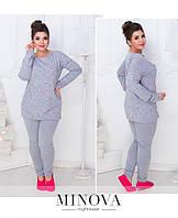 "Уютная, женская пижамка Кофта+штанишки ткань ""Коттон"" 42, 44, 46, 48, 50 размер батал"
