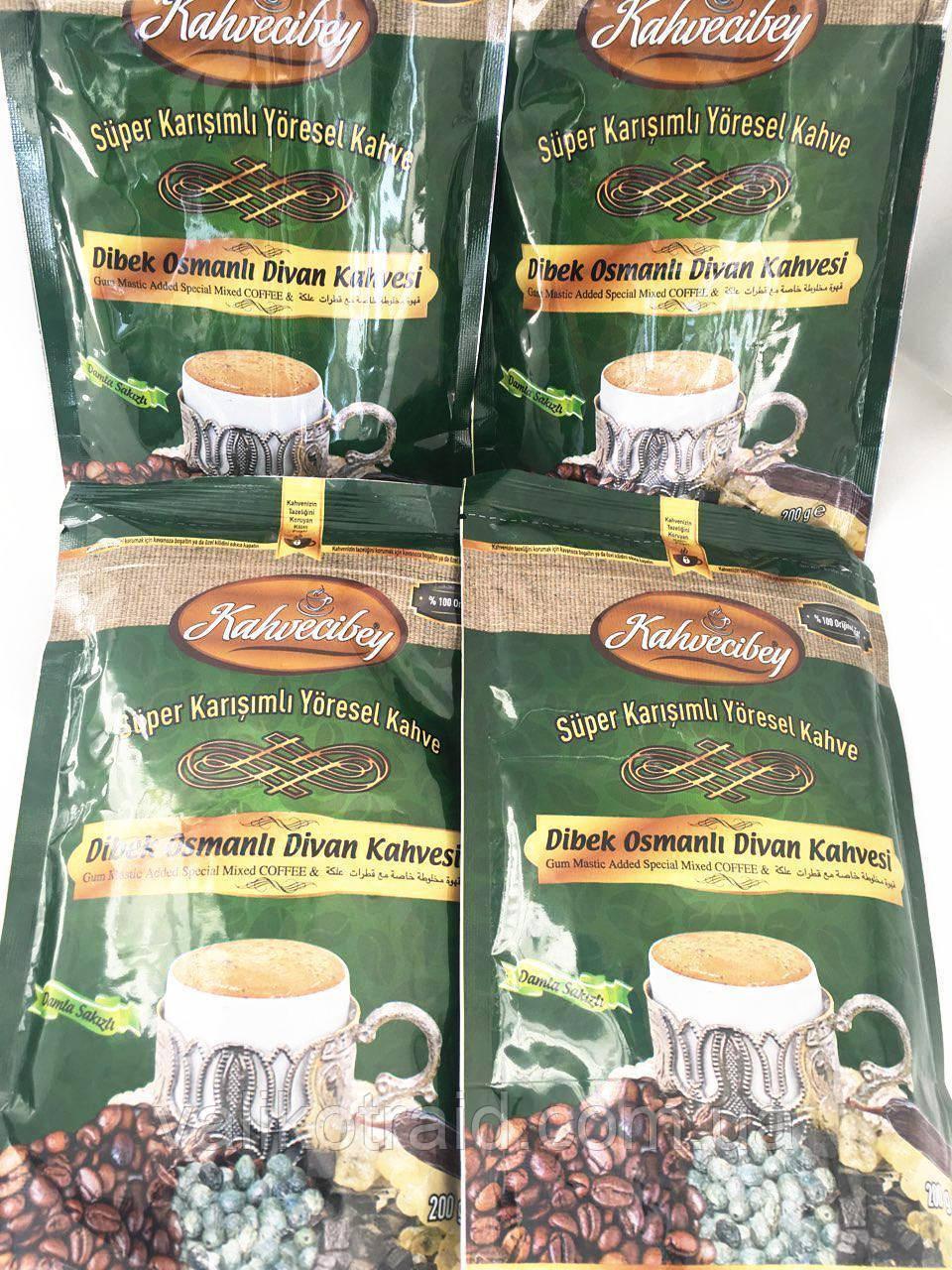 """Kофе турецкий """" DIBEK osmanli divan kahvesi"""" , 200г (арабика 100%, мускатный орех, какао, кофейный крем)к"""