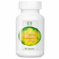 Корал Люцерна  Coral Alfalfa 400 мг 120 капс для  почек  сердца  лечение анемии мочегонное USA