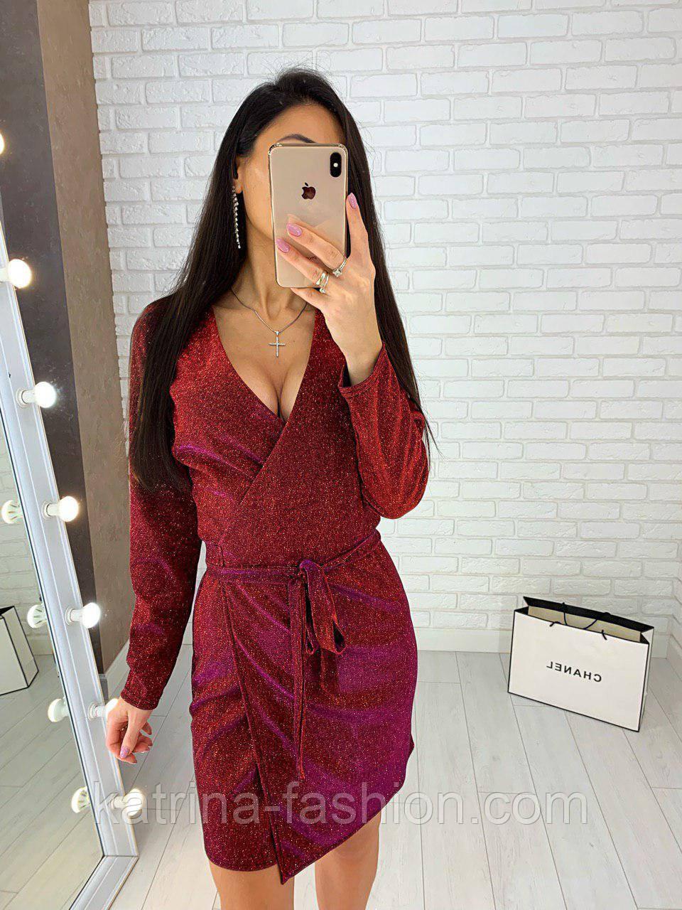 Женское платье из мерцающего люрекса ( 2 цвета)