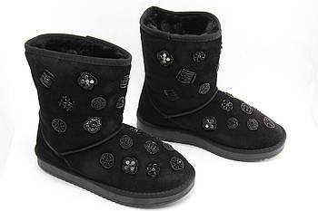 Черные угги 4Shoes 8157-A