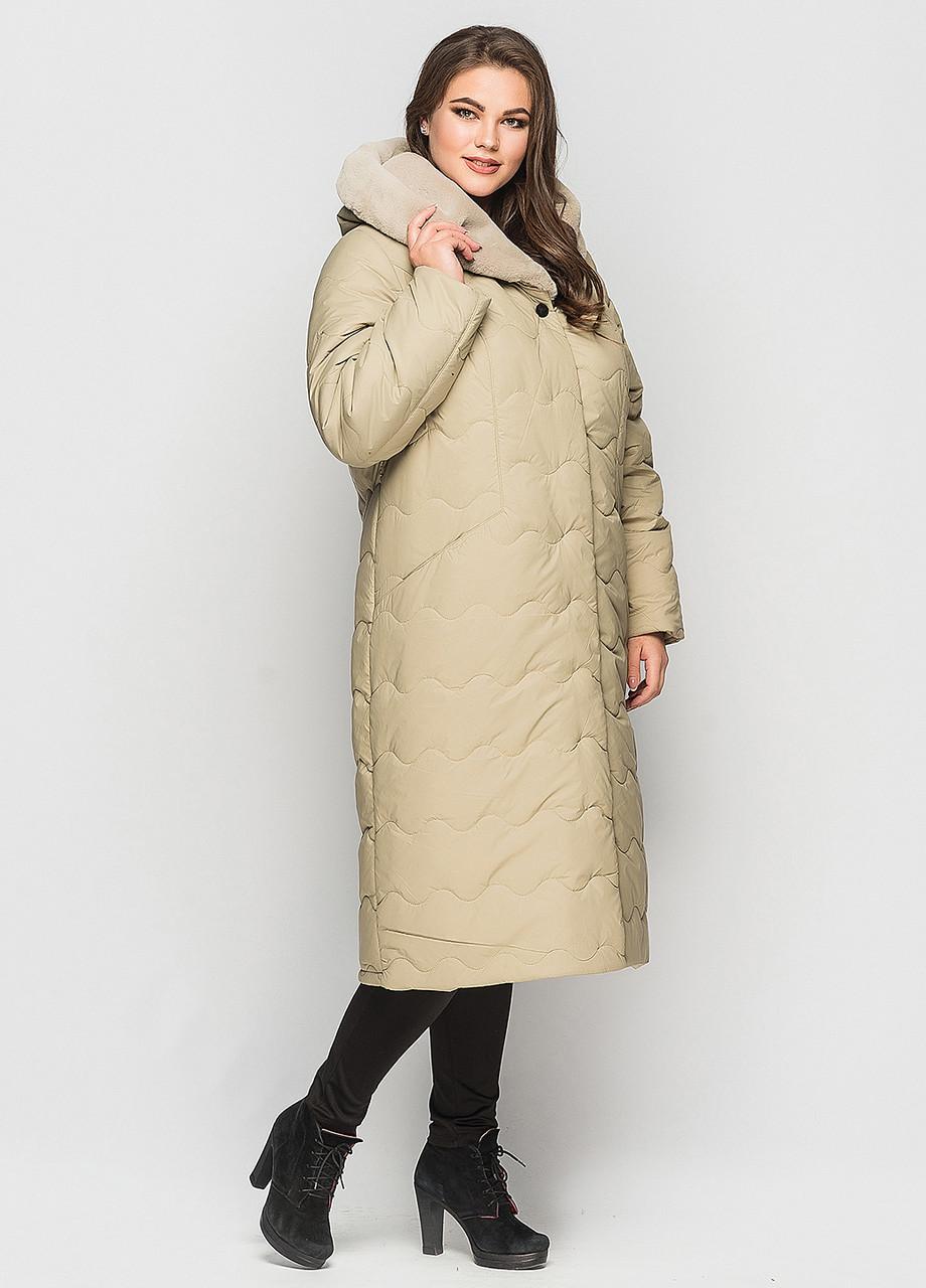 Пальто зимнее Эрика фисташка