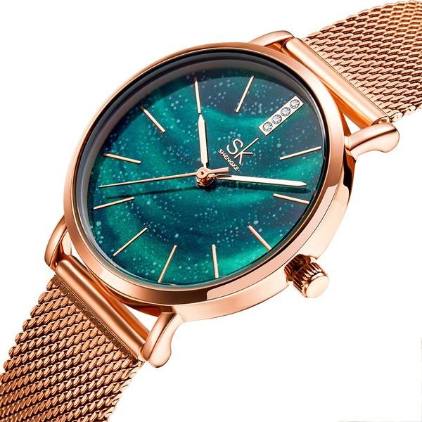 Shengke Женские часы Shengke Summer Green