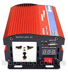 Автомобильный преобразователь напряжения инвертор Power Inverter 12V в 220V 500W с вольтметром