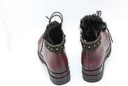 Зимние кожаные ботинки Meldymoor 9006-bordo, фото 4