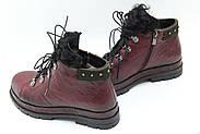 Зимові шкіряні черевики Meldymoor 9006-bordo, фото 2