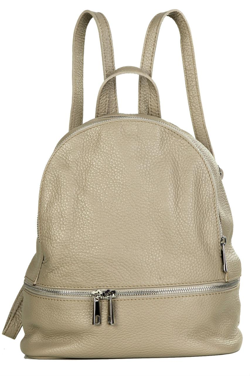 Женский кожаный рюкзак ZAIRA Diva's Bag цвет серо-коричневый