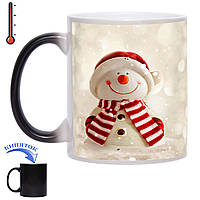 Чашка хамелеон Веселий сніговик 330 мл, фото 1
