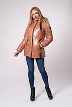 Женская молодежная зимняя куртка. Код модели К-150-71-20. Цвет бежевый.