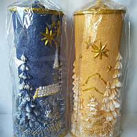 Свеча новогодняя цилиндр Зима 35см