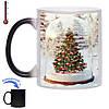Чашка хамелеон Різдвяна ялинка 330 мл