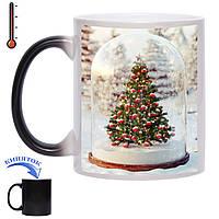 Чашка хамелеон Рождественская елка 330 мл