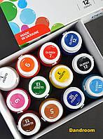 Набор акриловых красок для декора, Глянцевые, 12 цветов по 20 мл, ROSA TALENT