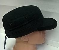 Кепка мужская немка полушерсть с ушами вовнутрь на флисе черный 414а/2.6, 58 размер Ellipse