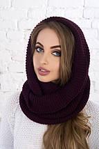 Теплый вязаный шарф-хомут: 6 цветов, фото 2