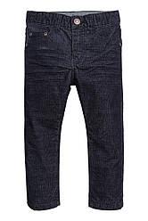 Вельветовые брюки                         H&M                         92 (1,5-2y)                         Синее                         (0501119001)