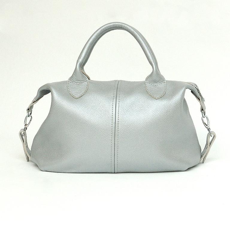 Кожаная сумка модель 20 серебро флотар