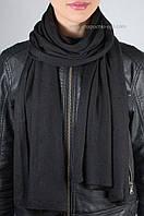 Шикарный женский вязаный палантин S-10 цвет ворон
