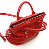 Кожаная сумка модель 23 красный флотар, фото 8