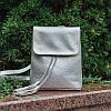 Рюкзак кожаный модель 03 серебристый флотар, фото 3