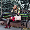 Кожаная сумка модель 26 пудра флотар, фото 8