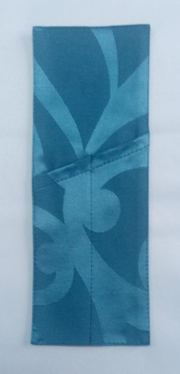 Куверт (конверт) открытый на 2 прибора , ткань Ресинадо Темно-голубой  арт.159924 Акрил.
