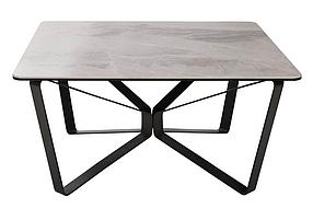 Стол журнальный Luton Квадратный Керамика Светло-серый глянец (Nicolas TM)