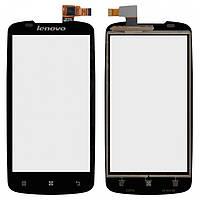 Сенсорный экран (touchscreen) для Lenovo A630, оригинал, черный