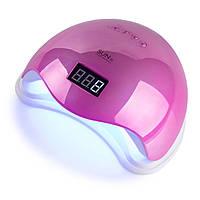 LED+UV лампа для маникюра SUN 5 48W Mirror Pink Зеркальная Розовая