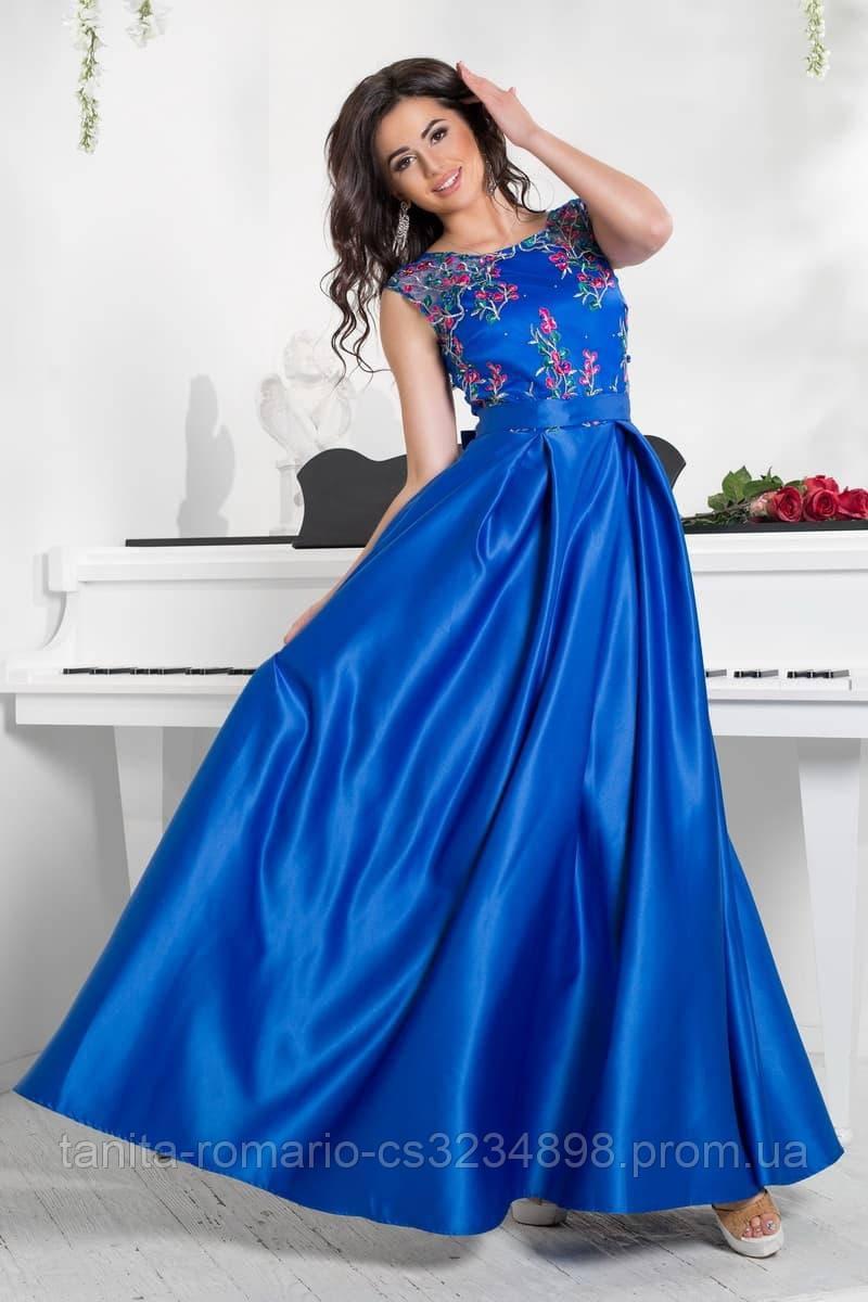Вечернее платье 8002e Электрик M(р)