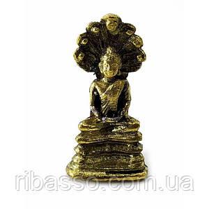 Будда с кобрами бронзовый (3х1х2 см) ( 3162A)