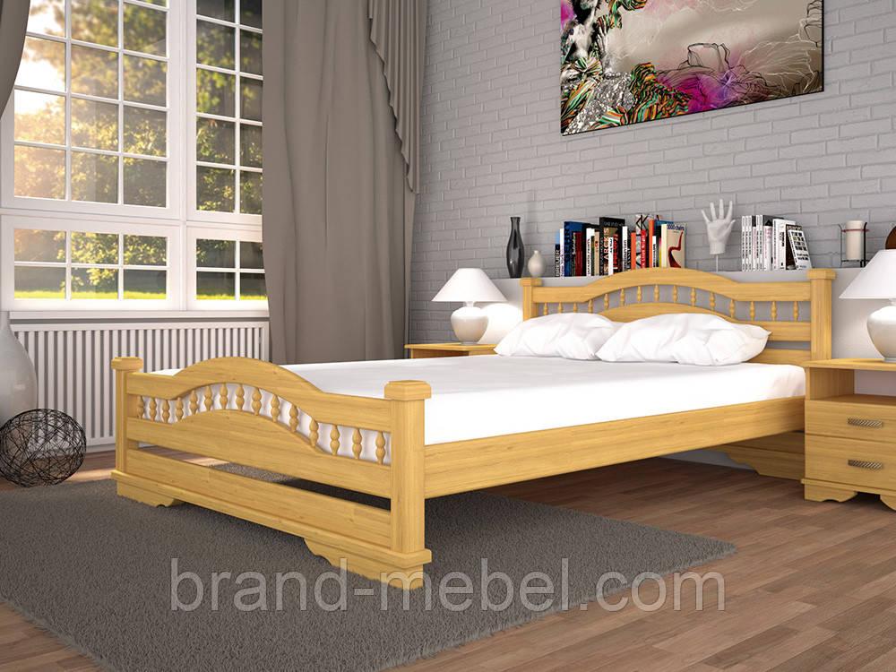 Дерев'яне ліжко двоспальне Атлант 7 / Деревянная кровать двуспальная Атлант 7