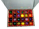 Шоколадные конфеты ручной роботы *Деревяная коробка с вашим логотипом на 24 конфеты.*, фото 2