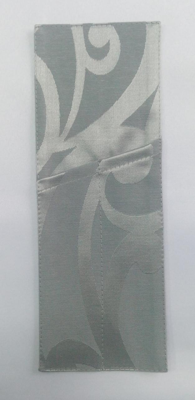 Куверт (конверт) открытый на 2 прибора , ткань Ресинадо Серый  арт.159929 Акрил.