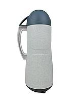Термос пластиковый со стеклянной колбой Stenson DB105SX-L 0.5 л White/Green