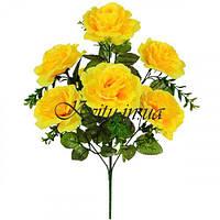 Искусственные цветы букет розы многослойные, 49см