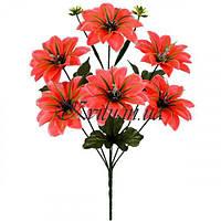 Искусственные цветы букет крокус атласный усатый, 38см