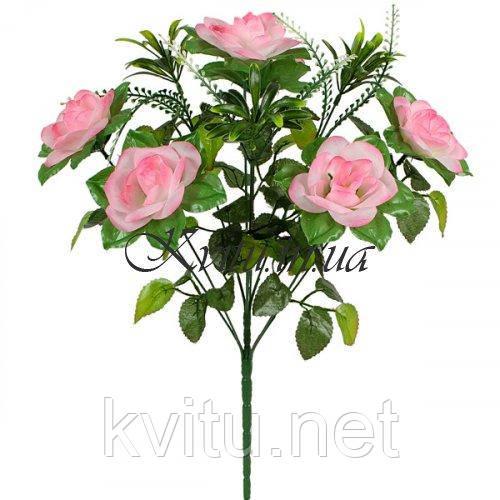 Букет искусственные розы с пышной зеленью, 47см