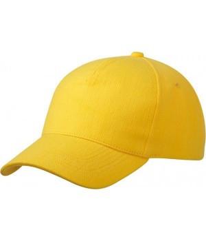 Кепка пятипанельная однотонная желтого цвета