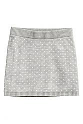 Жаккардовая юбка                         H&M                         110-116(4-6y)                         Серая                         (0531510004)