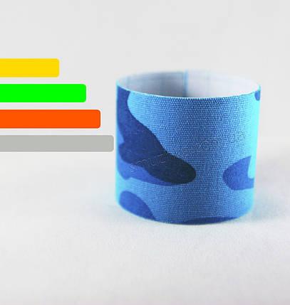 Тейп для фиксации сенсора Фристайл Либре синий-хаки, фото 2