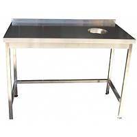 Стол для сбора отходов 1200х600х850 с полкой и без производственный