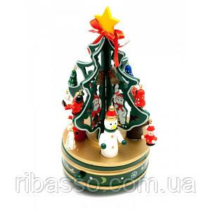 Елка музыкальная заводная (вращается) дерево (21х10,5х10,5 см) ( 29465)