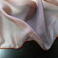 Тюль вуаль однотонная гардина терракотового цвета. Ткань для тюля на отрез