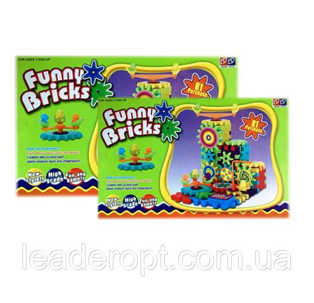 [ОПТ] Детский развивающий 3D-конструктор Funny Bricks, 81 деталь.